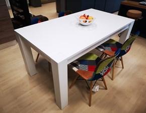Tavolo rettangolare in legno Din Artigianale in Offerta Outlet
