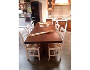 Tavolo rettangolare in legno Fratino Artigianale in Offerta Outlet