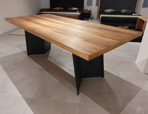 Tavolo rettangolare in legno Gabriel Artigianale in Offerta Outlet