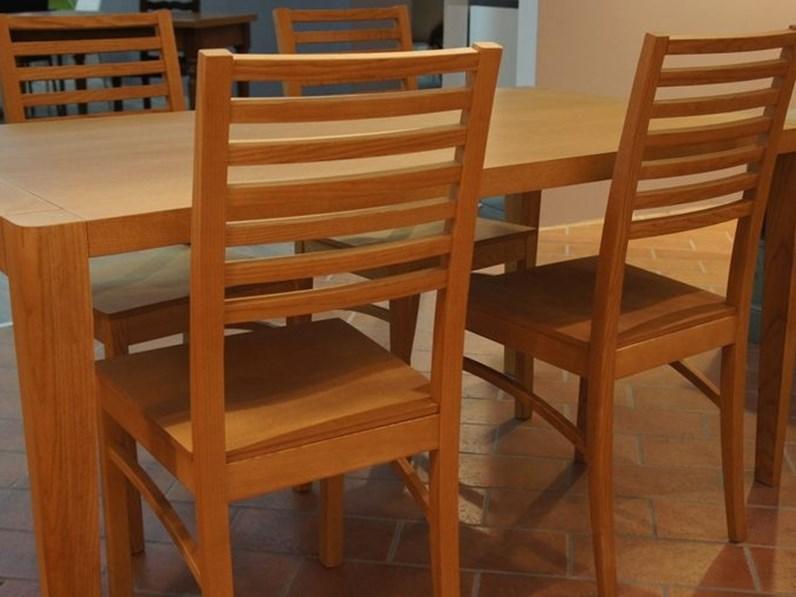 Sedie Artigianali Legno.Tavolo Rettangolare In Legno Karim Con 4 Sedie Artigianale In Offerta Outlet