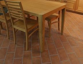 Tavolo rettangolare in legno Karim con 4 sedie Artigianale in Offerta Outlet