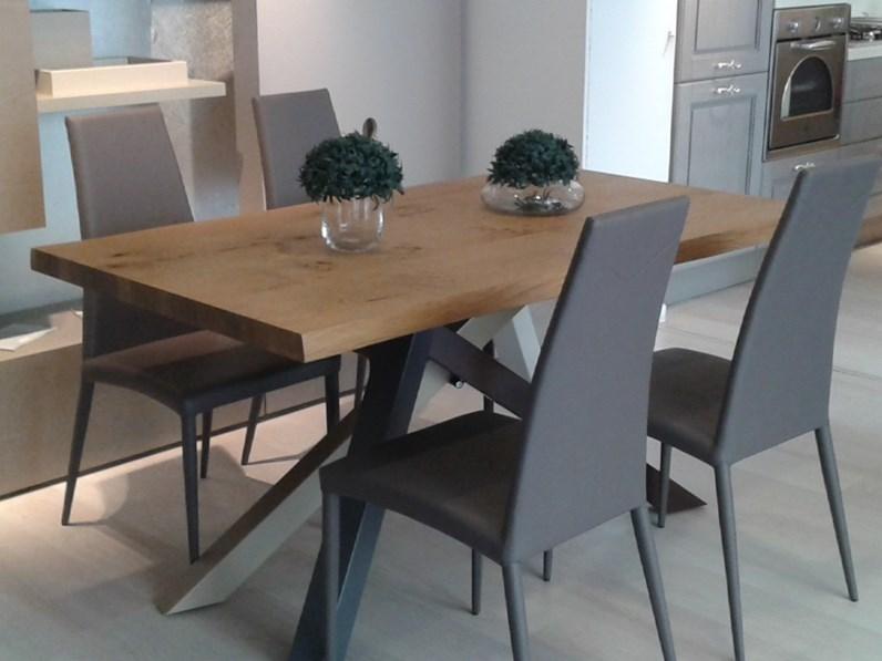 Tavolo rettangolare in legno materia di lazzaro in offerta for La forma tavoli