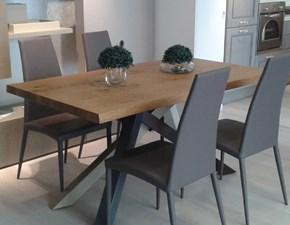 Tavolo rettangolare in legno Materia Di lazzaro in Offerta Outlet