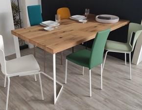 Tavolo rettangolare in legno Memory Mesons in Offerta Outlet