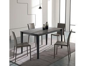 Tavolo rettangolare in legno Mix cono Easyline in Offerta Outlet