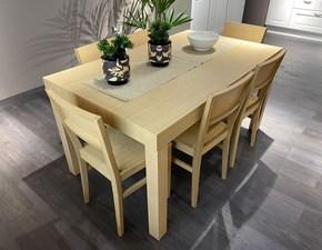 Tavolo rettangolare in legno Mix Lube cucine in Offerta Outlet