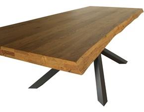 Tavolo rettangolare in legno Mobilike ml8461 Artigianale in Offerta Outlet