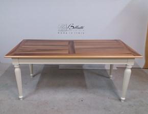 Tavolo rettangolare in legno Modello i solisti Artigianale in Offerta Outlet