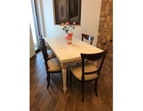 Tavolo rettangolare in legno Modello tradizionale Artigianmobili in Offerta Outlet