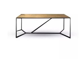 Tavolo rettangolare in legno Profilo Nature design in Offerta Outlet