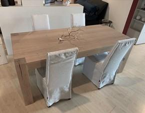 Tavolo rettangolare in legno Rovere nodato massello Artigianale in Offerta Outlet