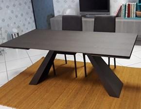 Tavolo rettangolare in legno Slide legno Zamagna in Offerta Outlet