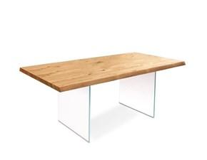 Tavolo rettangolare in legno Snooker Stones in Offerta Outlet