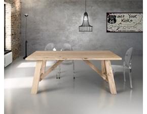 Tavolo rettangolare in legno Tavolo art 814 rustrial Artigianale in Offerta Outlet