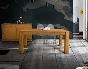 Tavolo rettangolare in legno Tavolo in legno massello con due allunghe da 50cm Mottes selection in Offerta Outlet