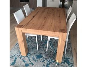 Tavolo rettangolare in legno Tavolo in rovere nodato l 160 x 95 cm allungabile sino a 260 cm Artigianale in Offerta Outlet