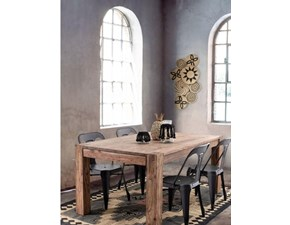 Tavolo rettangolare in legno Tavolo  perth vintage in legno massello in offerta  Nuovi mondi cucine in Offerta Outlet