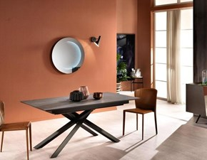 Tavolo rettangolare in legno Xavier Stones in Offerta Outlet