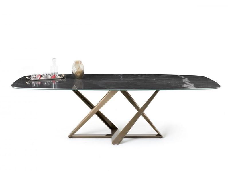 Tavolo rettangolare in marmo Millennium 20.96 Bontempi ...