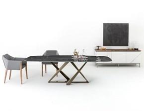 Tavolo rettangolare in marmo Millennium 20.96 Bontempi casa in Offerta Outlet