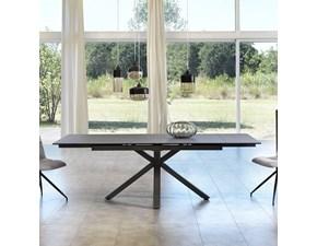 Tavolo rettangolare in metallo Cross Artigianale in Offerta Outlet