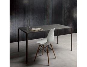 Tavolo rettangolare in metallo Iron 660 La seggiola in Offerta Outlet