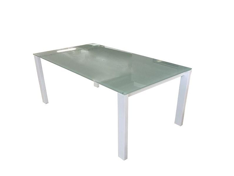 Tavolo rettangolare in vetro Alex Calligaris in Offerta Outlet