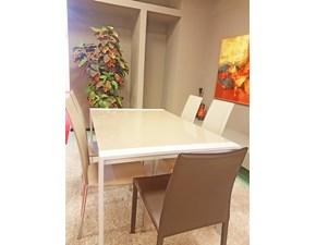 Tavolo rettangolare in vetro Ar Artigianale in Offerta Outlet