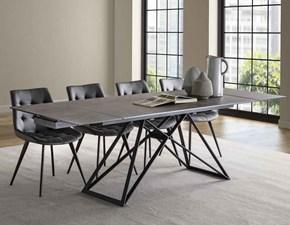 Tavolo rettangolare in vetro Architrave La seggiola in Offerta Outlet