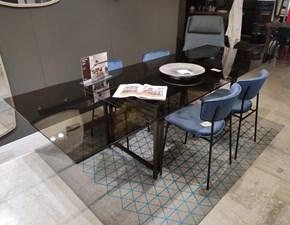 Tavolo rettangolare in vetro Berlin Calligaris in Offerta Outlet