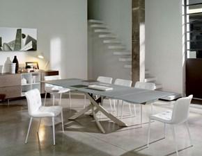 Tavolo rettangolare in vetro Bontempi artistico allungabile 160 Bontempi casa in Offerta Outlet