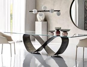 Tavolo rettangolare in vetro Butterfly Cattelan in Offerta Outlet