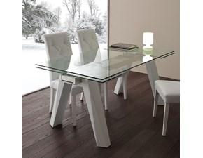 Tavolo rettangolare in vetro Caronte blanco La seggiola in Offerta Outlet