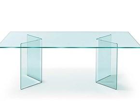 Tavolo rettangolare in vetro Corner Fiam italia in Offerta Outlet