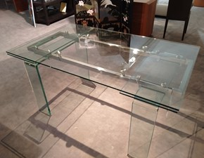 Tavolo rettangolare in vetro Cristal Artigianale in Offerta Outlet
