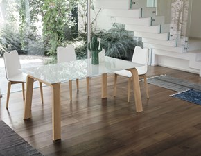 Tavolo rettangolare in vetro Deimos 160 Mottes selection in Offerta Outlet
