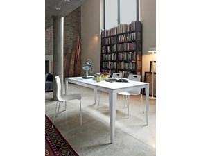 Tavolo rettangolare in vetro Dom 190 di Ingenia in Offerta Outlet