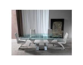 Tavolo rettangolare in vetro Enterprise * La seggiola in Offerta Outlet