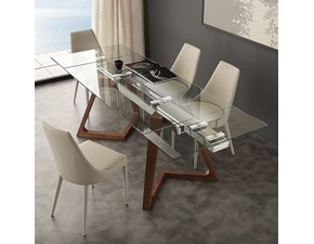 Tavolo rettangolare in vetro Gaudì La seggiola in Offerta Outlet