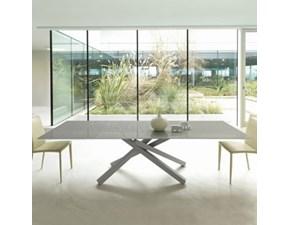 Tavolo rettangolare in vetro Lena allungabile Artigianale in Offerta Outlet
