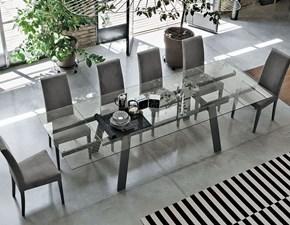 Tavolo rettangolare in vetro Mercurio Artigianale in Offerta Outlet