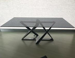 Tavolo rettangolare in vetro Millenium Bontempi casa in Offerta Outlet