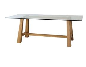 Tavolo rettangolare in vetro Mod capretta glass 180  Lion's in Offerta Outlet