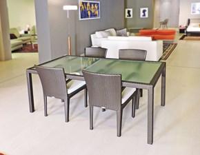 Tavolo rettangolare in vetro Panama Dedon in Offerta Outlet
