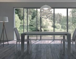 Tavolo rettangolare in vetro Seven Di lazzaro in Offerta Outlet