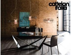 Tavolo rettangolare in vetro Skorpio fisso Cattelan in Offerta Outlet