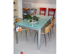 Tavolo rettangolare in vetro Tav01 Bontempi casa in Offerta Outlet