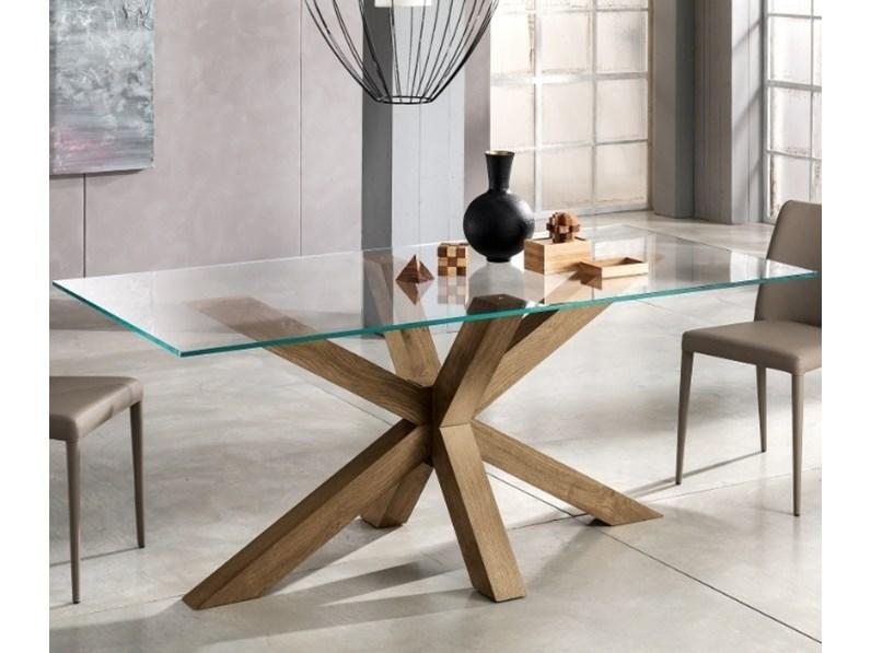 Tavolo Cristallo Rettangolare.Tavolo Rettangolare In Vetro Tavolo Dom Max Home In Offerta Outlet