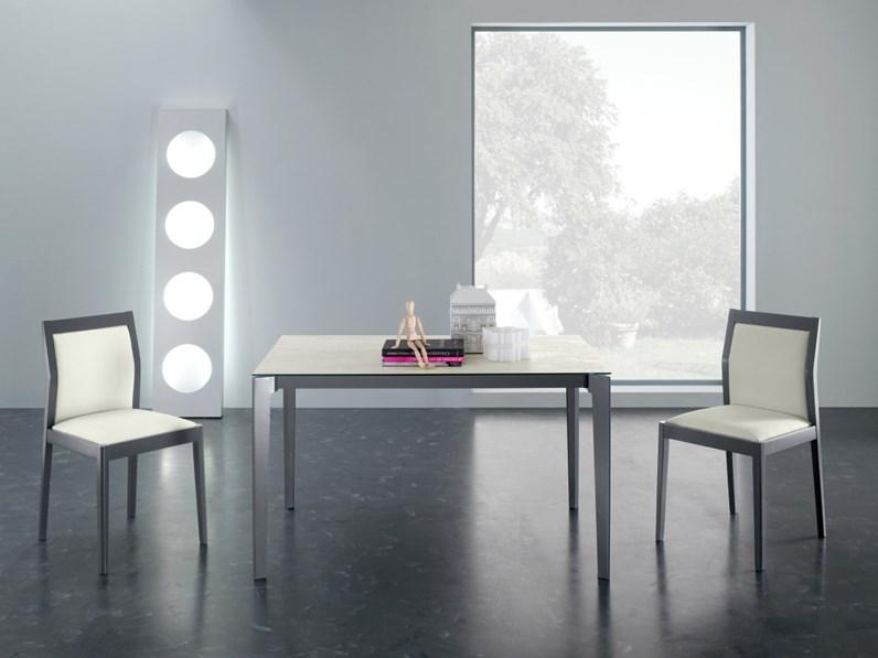 Tavolo rettangolare in vetro vertigo di eurosedia in for Bertocchi arredamenti