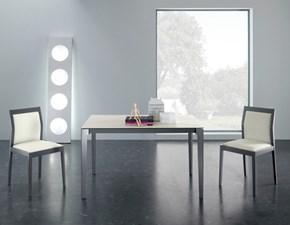Tavolo rettangolare in vetro Vertigo di Eurosedia in Offerta Outlet